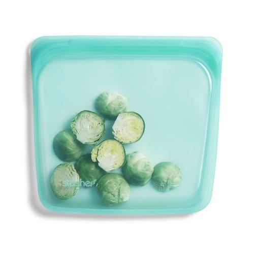 Reusable Silicone Sandwich Bag  Aqua