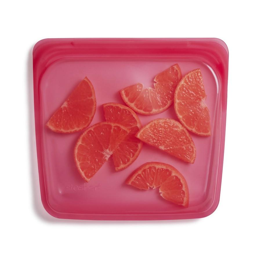 Reusable Silicone Sandwich Bag  Raspberry