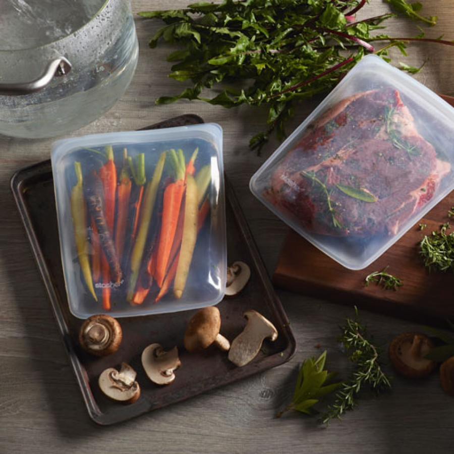 Reusable Silicone Storage Bags - Multi Pack - Clear