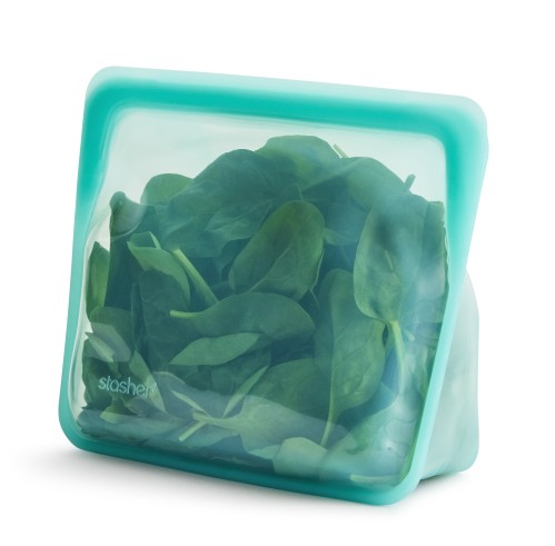 Reusable silicone stand-up aqua bag