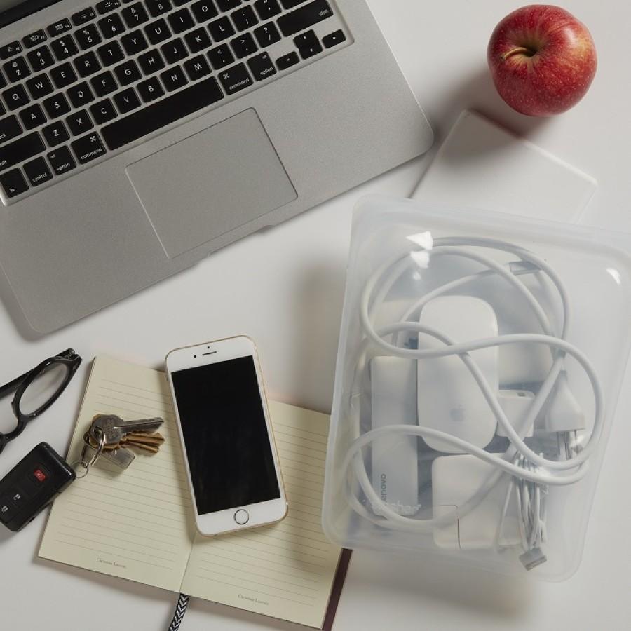 Reusable Silicone Half-Gallon Bag  Clear