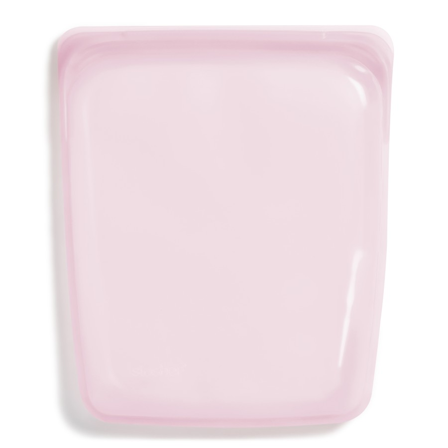 Reusable Silicone Half-Gallon Bag Rose
