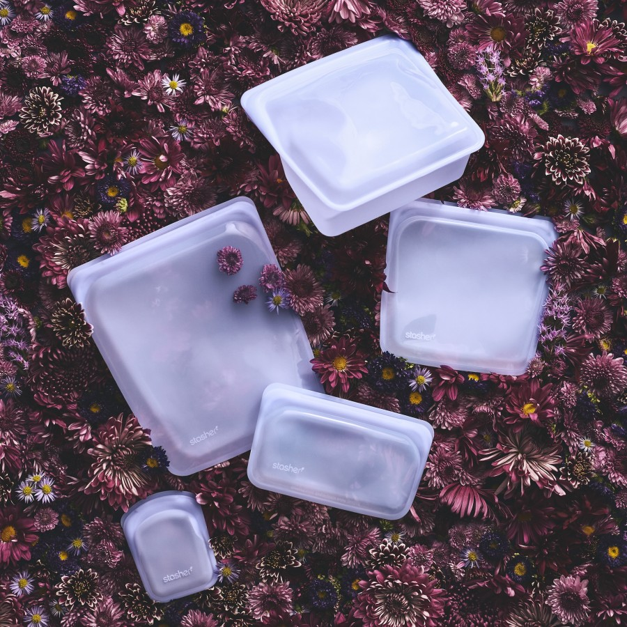 Reusable Silicone Half-Gallon Bag Amethyst