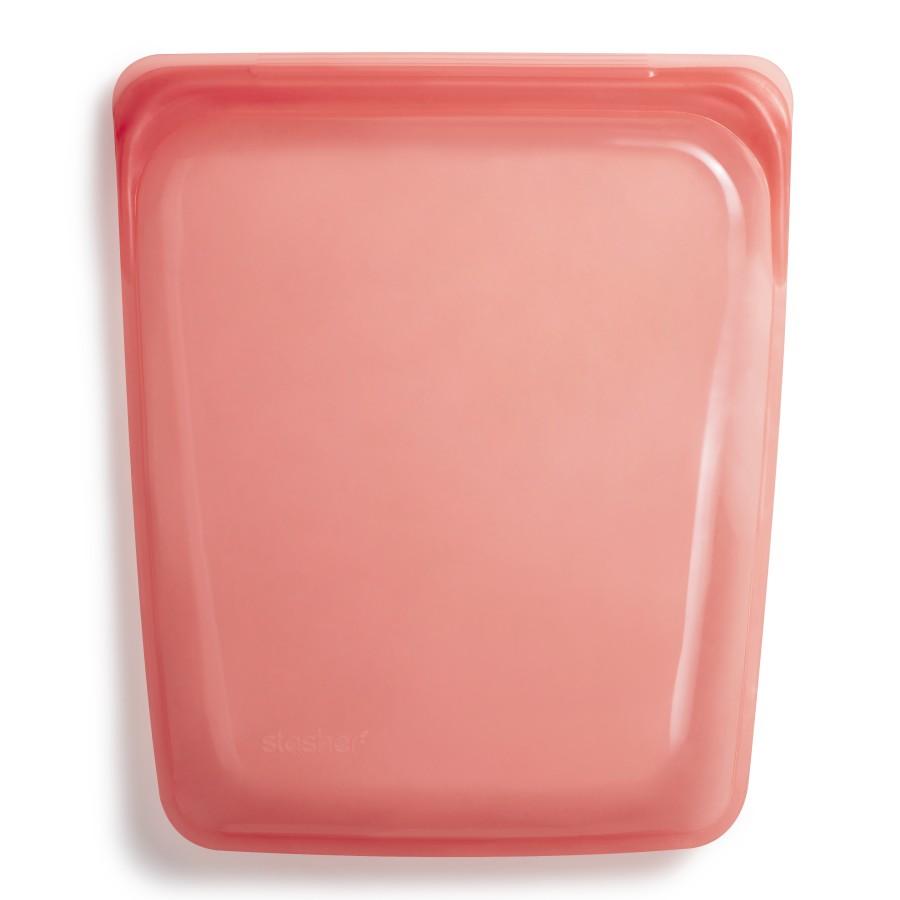 Reusable Silicone Half-Gallon Bag Red