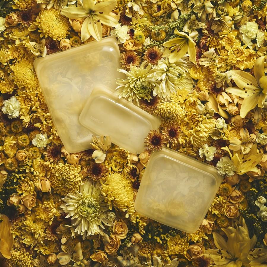 Reusable Silicone Half-Gallon Bag Yellow