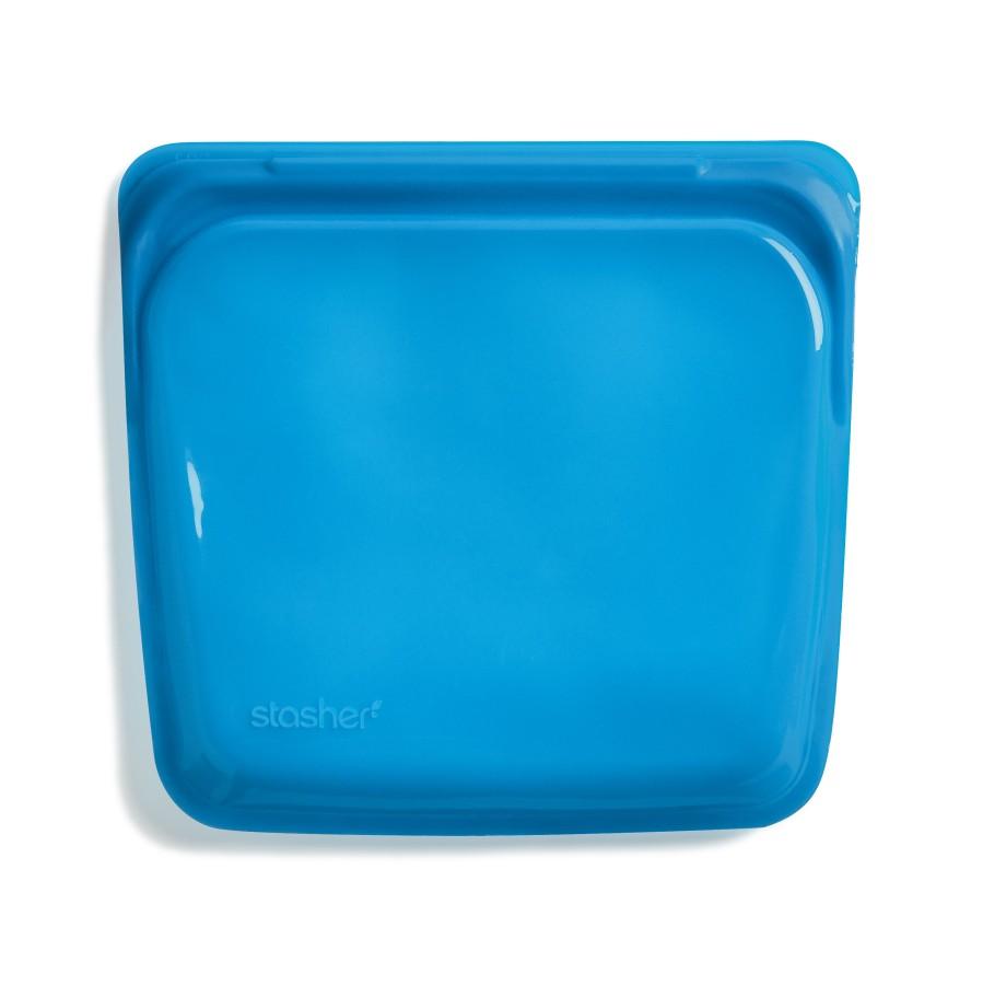 reusable silicone sandwich bag blueberry