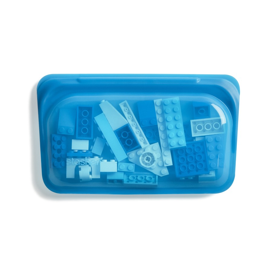 reusable silicone snack bag blueberry