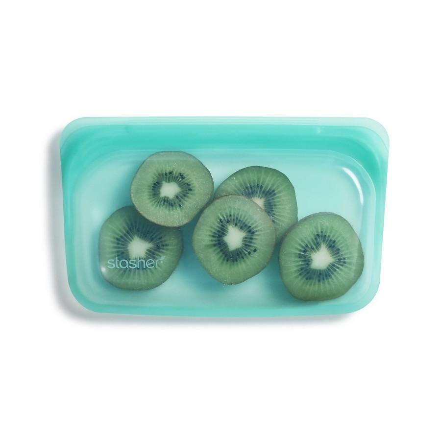 Reusable Silicone Snack Bag Aqua