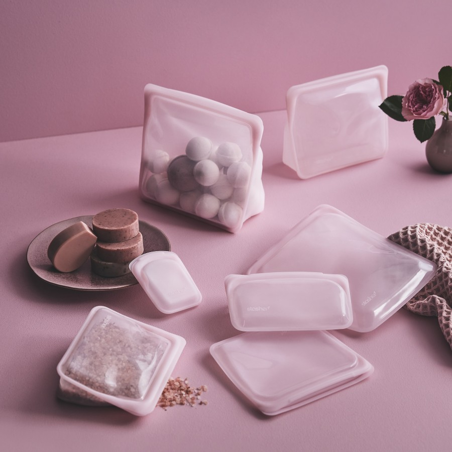 Reusable Silicone Sandwich Bag Pink