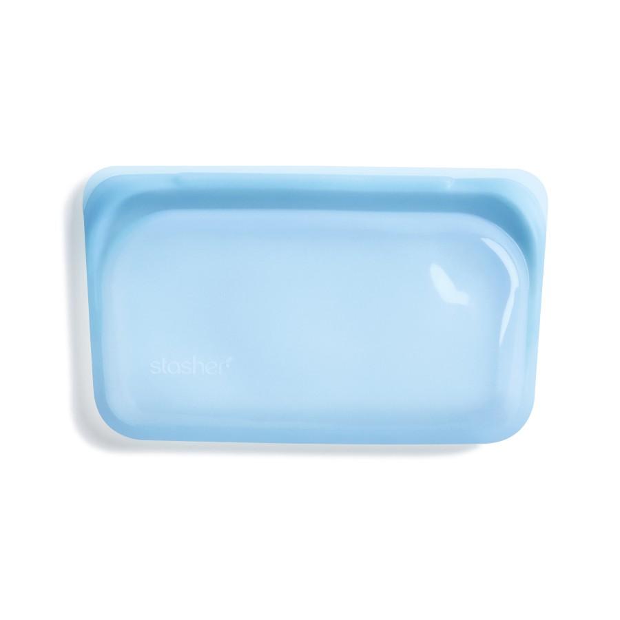 Reusable Silicone Snack Bag Blue