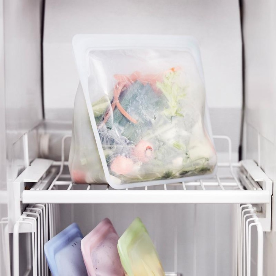 Reusable silicone stand-up mega clear bag
